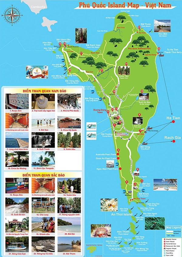 Các điểm vui chơi tại thành phố Phú Quốc Island